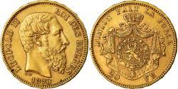 Coin, Belgium, Leopold II, 20 Francs, 20 Frank, 1870, , Gold, KM:32