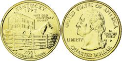 Us Coins - Coin, United States, Kentucky, Quarter, 2001, U.S. Mint, , Gold plated