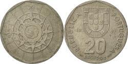 World Coins - Portugal, 20 Escudos, 1987, Lisbon, , Copper-nickel, KM:634.1