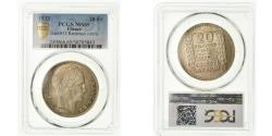 World Coins - Coin, France, Turin, 20 Francs, 1933, Paris, PCGS, MS65, Silver, KM:879, graded