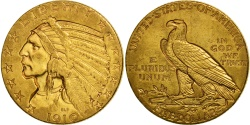 Us Coins - United States, Indian Head, $5, 1910, Philadelphia, , Gold, KM 129
