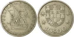 World Coins - Coin, Portugal, 10 Escudos, 1971, , Copper-Nickel Clad Nickel, KM:600
