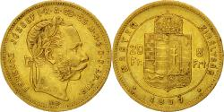 Ancient Coins - Coin, Hungary, Franz Joseph I, 8 Forint 20 Francs, 1877, Kremnitz, EF(40-45)