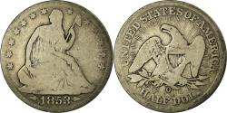 Us Coins - Coin, United States, Seated Liberty Half Dollar, Half Dollar, 1853, U.S. Mint