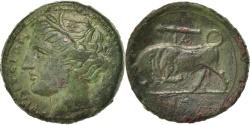 Ancient Coins - Sicily, Hieron II (274-216 BC), Persephone, Bronze, Syracuse, ,...