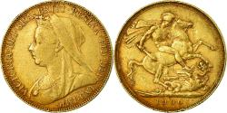 World Coins - Coin, Australia, Victoria, Sovereign, 1900, Perth, , Gold, KM:13