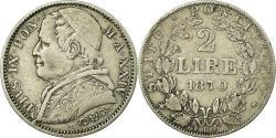 World Coins - Coin, ITALIAN STATES, PAPAL STATES, Pius IX, 2 Lire, 1870, Roma,