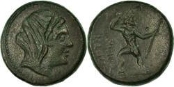 Ancient Coins - Coin, Bruttium, Petelia, Demeter, Obol, AU(50-53), Bronze