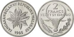 World Coins - MADAGASCAR, 2 Francs, 1965, Paris, KM #E7, , Stainless Steel, 3.36