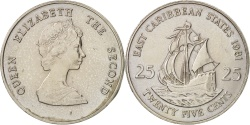 World Coins - East Caribbean States, Elizabeth II, 25 Cents, 1981, , KM:14