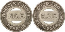 Us Coins - United States, Token, Norfolk County Ferries
