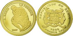 World Coins - Coin, Benin, 1500 Francs CFA, 2007, Le Penseur de Rodin, , Gold