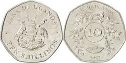 World Coins - UGANDA, 10 Shillings, 1987, KM #30, , Nickel Plated Steel, 25.91, 5.71