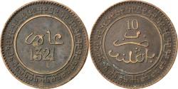 World Coins - MOROCCO, 10 Mazunas, 1903, Birmingham, KM #17.2, , Bronze, 9.95