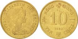 World Coins - HONG KONG, 10 Cents, 1982, KM #49, , Nickel-Brass, 17.5, 1.90