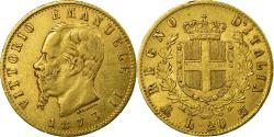 World Coins - Coin, Italy, Vittorio Emanuele II, 20 Lire, 1873, Milan, , Gold