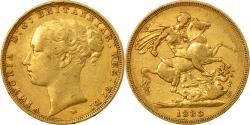 World Coins - Coin, Australia, Victoria, Sovereign, 1883, Melbourne, , Gold, KM:7