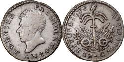 World Coins - Coin, Haiti, 12 Centimes, An 24 (1827), , Silver, KM:19