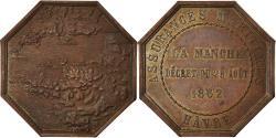 World Coins - France, Token, Insurance, Assurances Maritimes, Hâvre, La Manche, 1862,