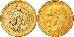 Ancient Coins - Coin, Mexico, 2-1/2 Pesos, 1945, Mexico City, , Gold, KM 463