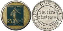 World Coins - Coin, France, Société générale, 25 Centimes, Timbre-Monnaie,