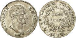 World Coins - Coin, France, Napoléon I, 1/2 Franc, AN 13, Paris, , Silver, KM:655.1