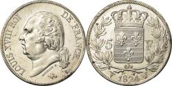 World Coins - Coin, France, Louis XVIII, Louis XVIII, 5 Francs, 1824, Lille,