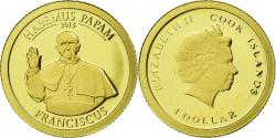 World Coins - Coin, Cook Islands, Dollar, 2013, Habemus Papam Franciscus, , Gold