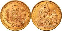 World Coins - Coin, Peru, 20 Soles, 1960, Lima, , Gold