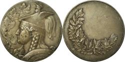 World Coins - France, Medal, Gauloise Casquée, Albert Herbemont, , Silvered bronze