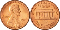 Us Coins - United States, Lincoln Cent, Cent, 1987, U.S. Mint, Philadelphia,