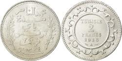 World Coins - TUNISIA, 2 Francs, 1916, Paris, KM #239, , Silver, 10.01