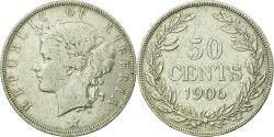 World Coins - Coin, Liberia, 50 Cents, 1906, Heaton, Birmingham, England, , Silver