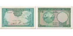 World Coins - Banknote, FRENCH INDO-CHINA, 5 Piastres = 5 Kip, 1953, Undated (1953), KM:101