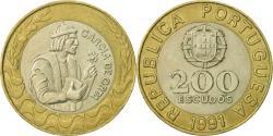 World Coins - Portugal, 200 Escudos, 1991, , Bi-Metallic, KM:655