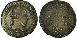 World Coins - Coin, France, Henri III, 1/4 Franc, 1577, Paris, , Silver, Sombart:4718
