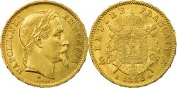 World Coins - Coin, France, Napoleon III, 20 Francs, 1868, Paris, , Gold, KM 801.1