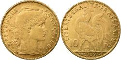 Ancient Coins - Coin, France, Marianne, 10 Francs, 1909, Paris, , Gold, KM:846