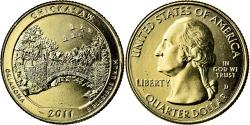 Us Coins - Coin, United States, Chickasaw, Quarter, 2011, U.S. Mint, , Gold plated