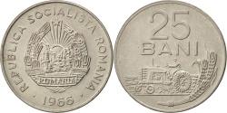 World Coins - ROMANIA, 25 Bani, 1966, KM #94, , Nickel Clad Steel, 22, 3.36