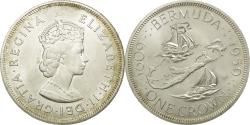 World Coins - Coin, Bermuda, Elizabeth II, Crown, 1959, British Royal Mint, , Silver
