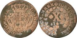 World Coins - Coin, Portugal, Jo, 10 Reis, X; 1/2 Vinten, 1744, , Copper, KM:227