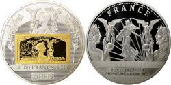 Us Coins - France, Medal, Histoire de la Monnaie Française, 5000 Francs 1944, MS(64)