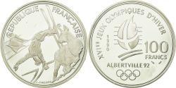 World Coins - Coin, France, Ski Acrobatique, 100 Francs, 1990, , Silver, KM:983