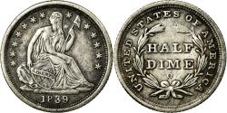 Us Coins - Coin, United States, Seated Liberty Half Dime, 1839, New Orleans,