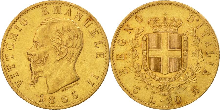 Italy vittorio emanuele ii 20 lire 1865 torino au 50 for Coin torino