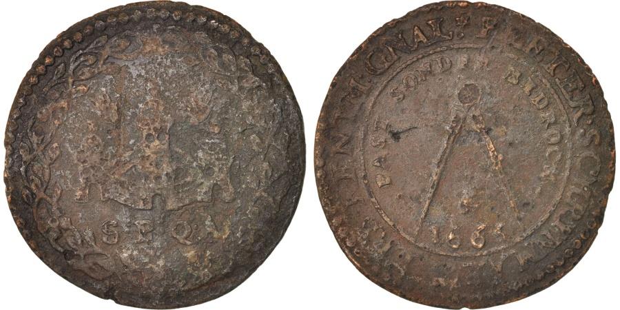 World Coins - Spanish Netherlands, Token, Belgium, Bruxelles, Peter Schrijnmaker, 1665