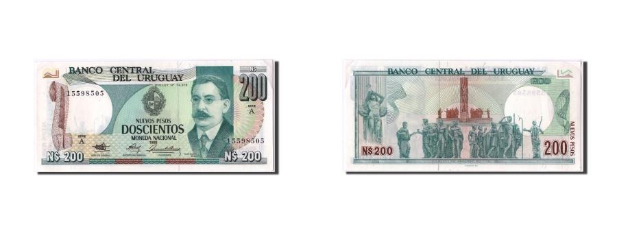 World Coins - Uruguay, 200 Nuevos Pesos, 1986, KM #66a, UNC(60-62), A 15598505