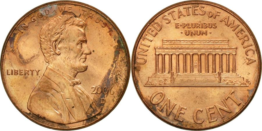 US Coins - Coin, United States, Lincoln Cent, Cent, 2006, U.S. Mint, Denver,
