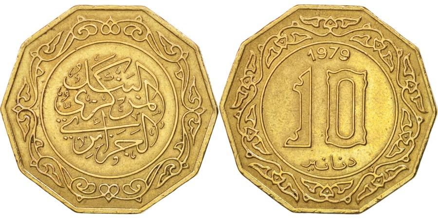 World Coins - Algeria, 10 Dinars, 1979, , Aluminum-Bronze, KM:110